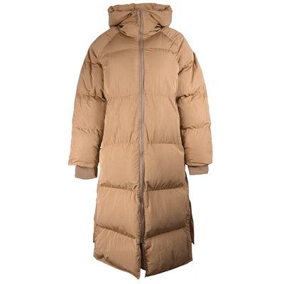 JAIMY Our fav puffer hoody jacket camel