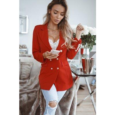 JAIMY Luca long blazer red