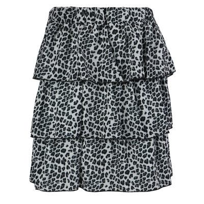 JAIMY Kayla leopard skirt grey