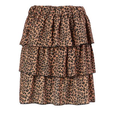 JAIMY Kayla leopard skirt camel