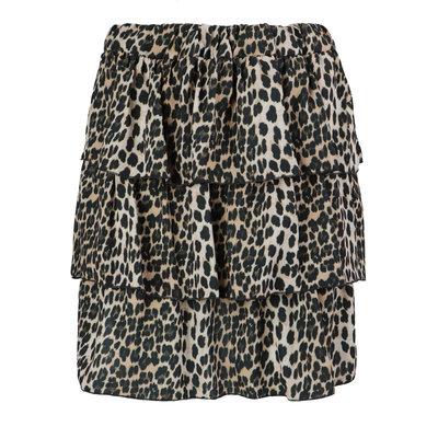 JAIMY Kayla leopard skirt beige