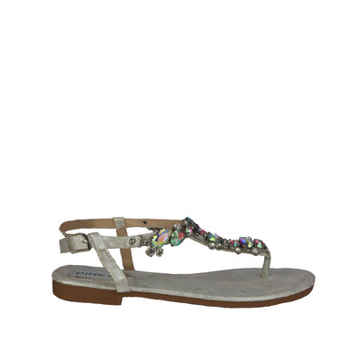 JAIMY Linda diamond sandal silver
