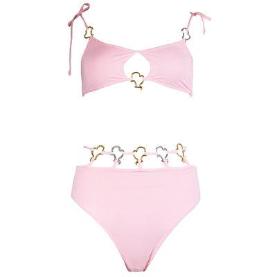 REINDERS Cheeky bikini headlogo solid baby pink