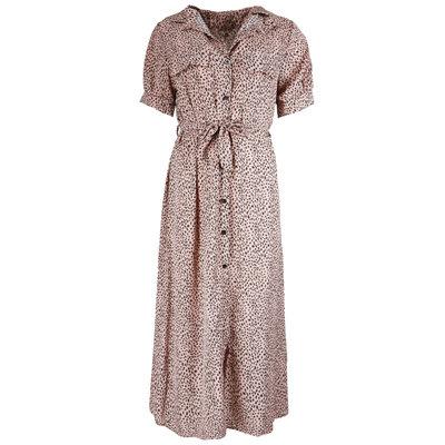 JAIMY Kensi leopard maxi dress pink