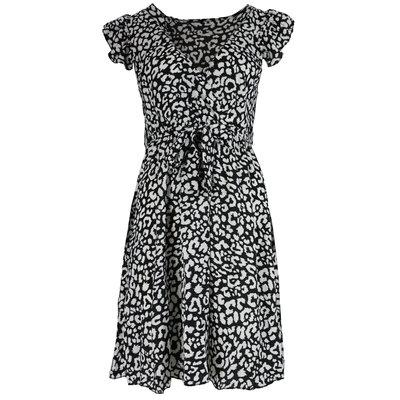 JAIMY Lenora leopard dress black/white