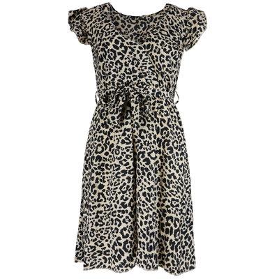 JAIMY Lenora leopard dress beige