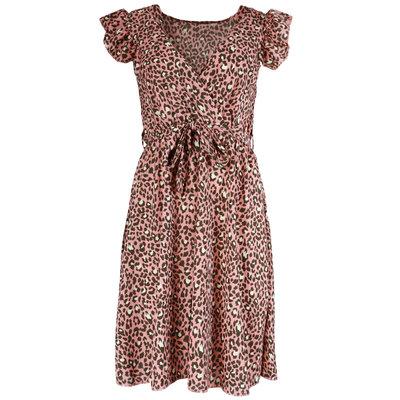 JAIMY Lenora leopard dress pink