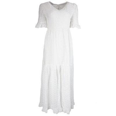 JAIMY Open back crochet maxi dress