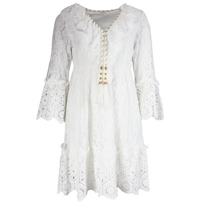 JAIMY Cilla ibiza dress white