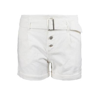 JAIMY Belted denim short white