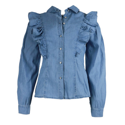 JAIMY Inaya ruffle denim blouse