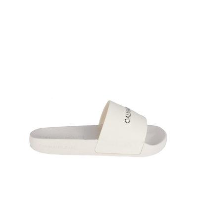 CALVIN KLEIN Slides white