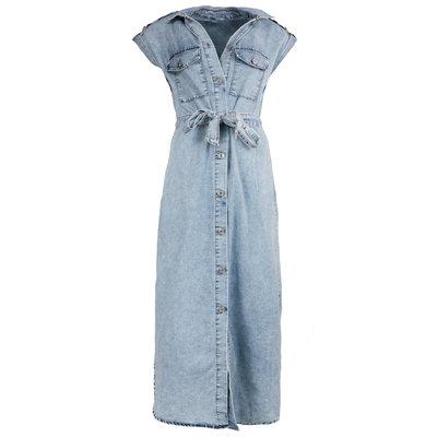 JAIMY Maxi short sleeve denim dress