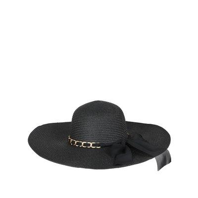 JAIMY Chain detail summer hat black