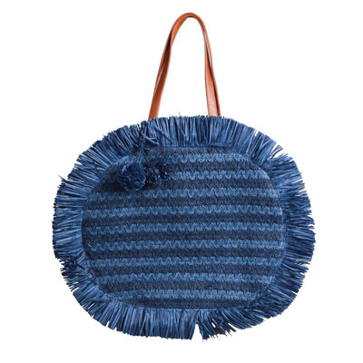 JAIMY Round beach bag blue