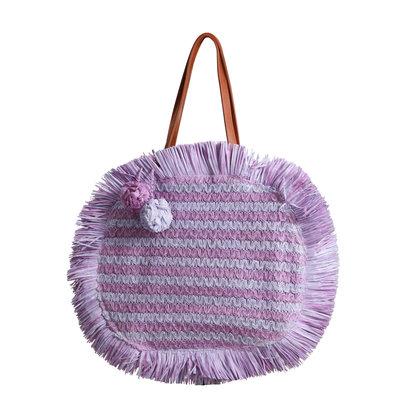 JAIMY Round beach bag purple
