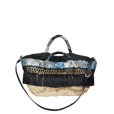 JAIMY Fringe beach bag black