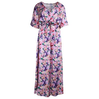 JAIMY Flower print maxi dress lilac