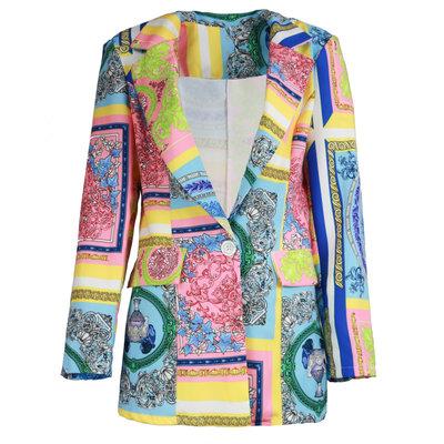 JAIMY Kimberly printed blazer pink/blue