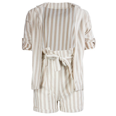 JAIMY Striped 2-piece set beige