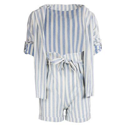 JAIMY Striped 2-piece set blue