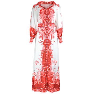 JAIMY Alyna printed maxi dress red