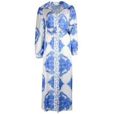 JAIMY Valencia printed maxi dress blue