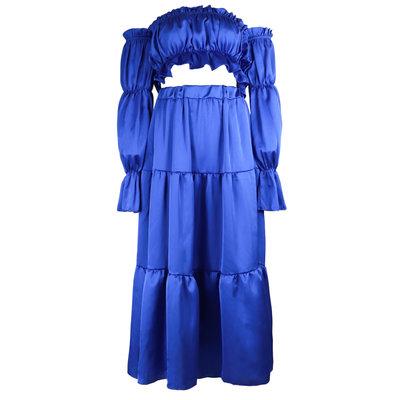 JAIMY Satin 2-piece set blue