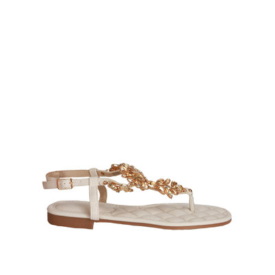 JAIMY Pam diamond sandal white