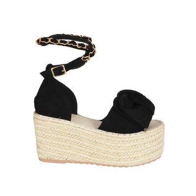 JAIMY Chain detail platform sandal black