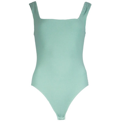 JAIMY Square neck ribbed body mint