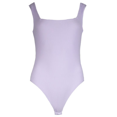 JAIMY Square neck ribbed body lilac