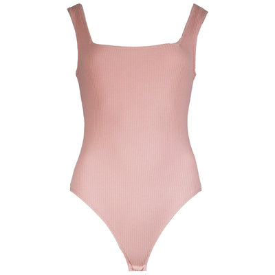 JAIMY Square neck ribbed body light pink