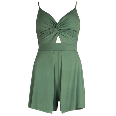 JAIMY Knot detail playsuit green