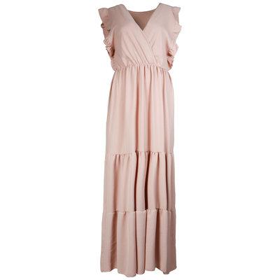 JAIMY Deep v maxi dress light pink