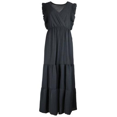 JAIMY Deep v maxi dress black