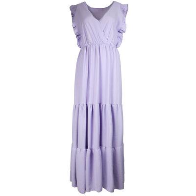 JAIMY Deep v maxi dress lilac