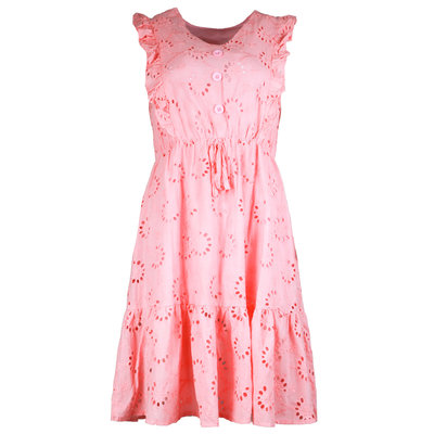 JAIMY Saar crochet dress pink