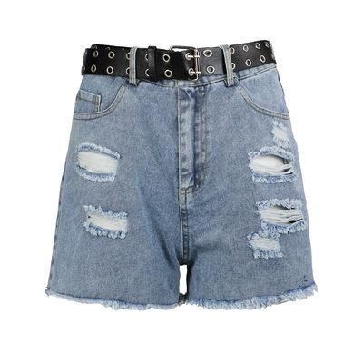 JAIMY Belted denim shorts blue
