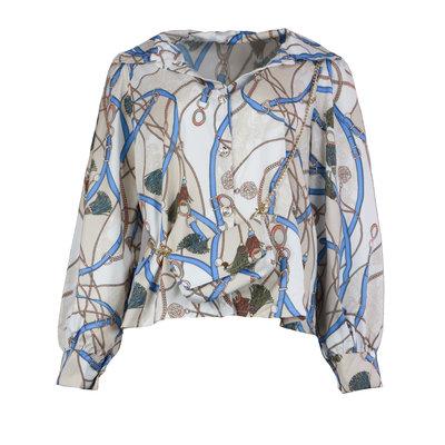 JAIMY Chain print blouse with bag