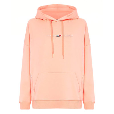 TOMMY HILFIGER Relaxed fit graphic hoodie lumen neon coral