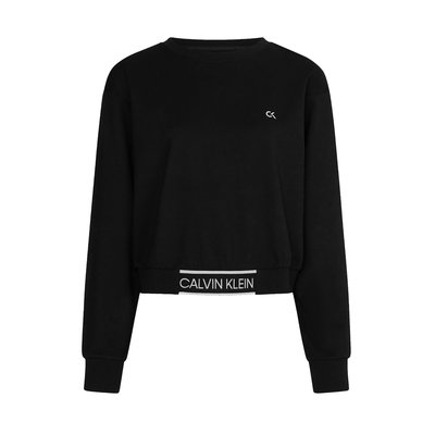 CALVIN KLEIN Cropped pullover with logo tape