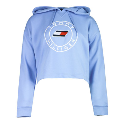 TOMMY HILFIGER Relaxed round graphic hoodie wonder blue