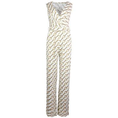 JAIMY Travel chain print jumpsuit beige