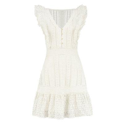NIKKIE Richella dress star white