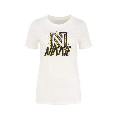 NIKKIE Animal t-shirt star white