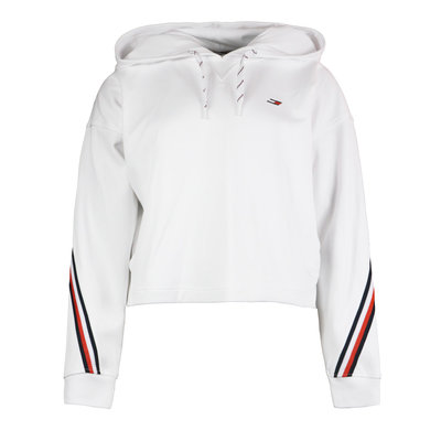 TOMMY HILFIGER Relaxed double pique hoodie optic white
