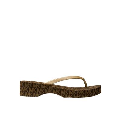 MICHAEL KORS Lilo logo flip flop brown