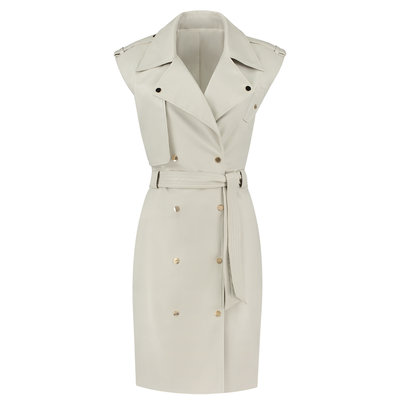 FIFTH HOUSE Magno trench dress almond