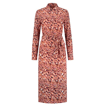 FIFTH HOUSE Starla dress apricot panther